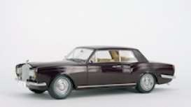 1968 Rolls Royce MPW 2-doors coupe Right Hand Drive, burgundy 1:18
