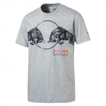 'Adult' Red Bull Racing '2017 Graphic Bull Tee' Grey