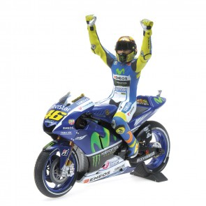 1:12 Yamaha YZR-M1 Factory Racing Team Valentino Rossi, MotoGP Silverstone 2015 incl. figuur