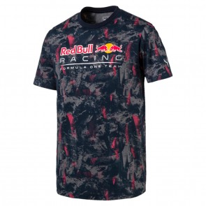 'Adult' Red Bull Racing '2017 Allover Tee' Donker blauw