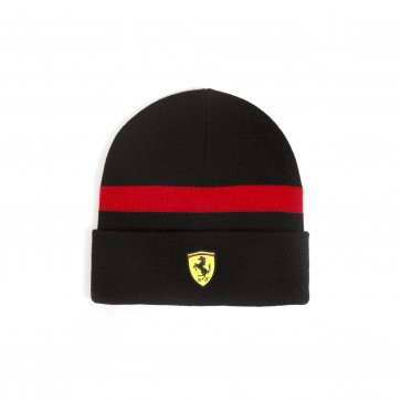 'Adult' Scuderia Ferrari Knitted Beanie 'Black'