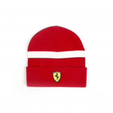 'Adult' Scuderia Ferrari Knitted Beanie 'Red'