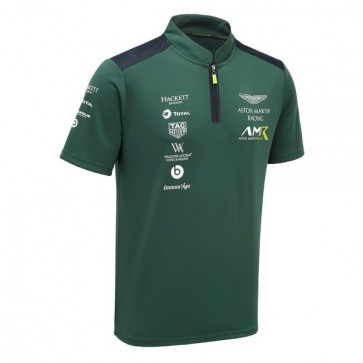 'Adult' Aston Martin Racing Team Polo Shirt 2018 Sterling Green