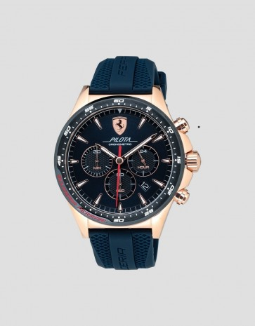 Ferrari Pilota Chrono Rose Gold with Blue
