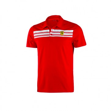 Ferrari Mens Striped Polo