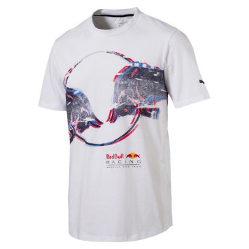 'Adult' 2018 Red Bull Racing Double Bull Tee 'Wit'