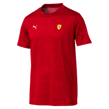 Ferrari Small Shield Tee red