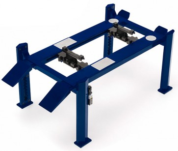 Metal 4 Post lift Blauw 1:18