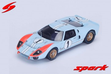 1:43 Ford GT Mk II, No 1 '2nd Place 24hrs of Le Mans 1966' K. Miles/ D. Hulme