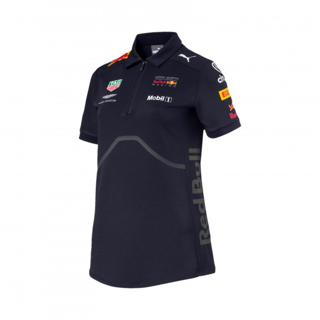 39 dames 39 2018 aston martin red bull racing team polo. Black Bedroom Furniture Sets. Home Design Ideas