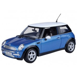 1:18 Mini Cooper Blue with White Roof