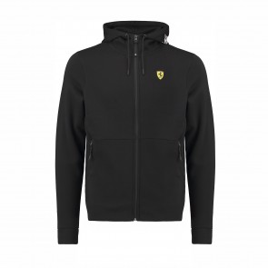 'Adult' Scuderia Ferrari Hooded Sweat Jacket 'Black'