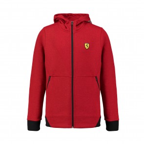 'Kids' Scuderia Ferrari Hooded Sweat Jacket 'Red'