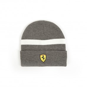 'Adult' Scuderia Ferrari Knitted Beanie 'Grey'