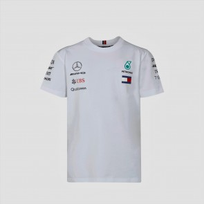 'Kids' 2018 Mercedes AMG F1 Team Driver Tee 'Wit'