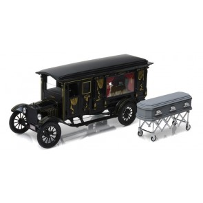 1:18 Ford Model T Hearse with coffin