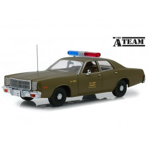 "1:18 Plymouth Fury 1977 U.S. Army Police ""Colonel Roderick Decker - The A-Team"""