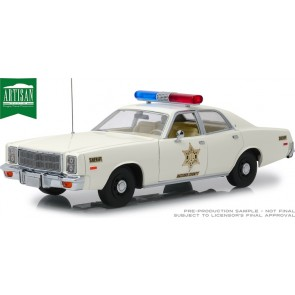 "1:18 1977 Plymouth Fury 'Hazzard County Sheriff' ""Dukes of Hazzard"""