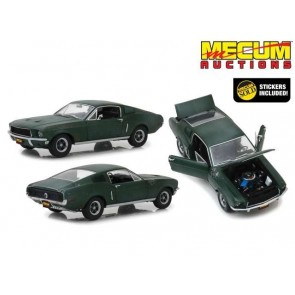 1:18 1968 Ford Mustang GT Fastback Unrestored Bullit Mecum Auction 2020