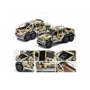 1:64 Mercedes Benz G63 AMG 6x6 '1st edition' Brown Woodland Camo