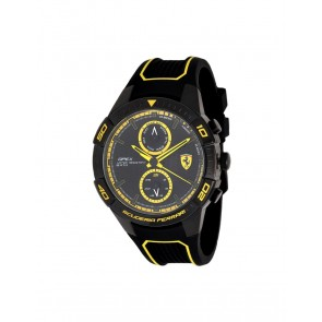 Ferrari Apex Multifix Silicone Black/Yellow 44MM