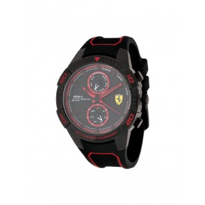 Ferrari Apex Multifix Silicone Black/Red 44MM