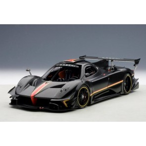 1:18 Pagani Zonda Revolution Black Carbon Fiber Red Stripe