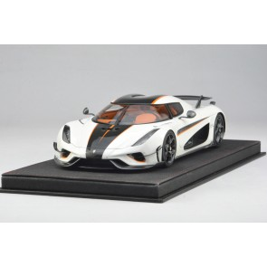 1:18 Koenigsegg Regera Ghost Package White with Orange accents