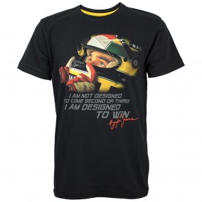 'Adult' Ayrton Senna 'Designed to Win' T-Shirt
