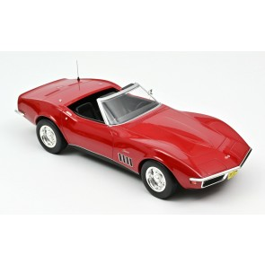 1:18 Chevrolet Corvette Convertible 1969 - rood