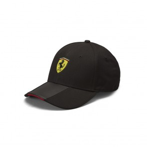 'Adult' 2019 Ferrari Scudetto Carbon Strip Cap Black