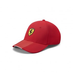 'Adult' 2019 Ferrari Scudetto Carbon Strip Cap Red