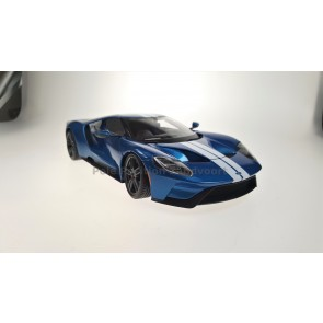 1:18 Ford GT Blauw - wit