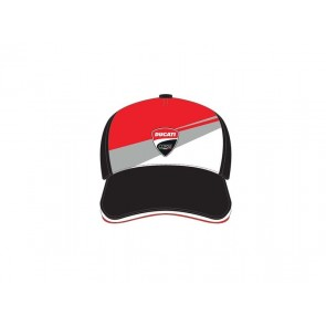 Ducati Badge Patch Tricolor Front Baseball Cap Black
