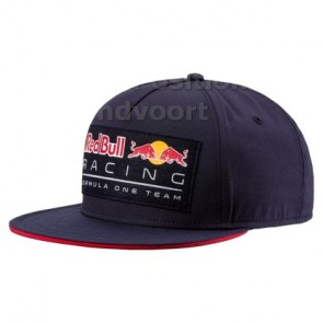 'Adult' 2018 Red Bull Racing Lifestyle Flatbrim cap 'Blauw'