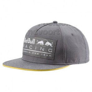 'Adult' 2018 Red Bull Racing Lifestyle Flatbrim Cap 'Grijs'
