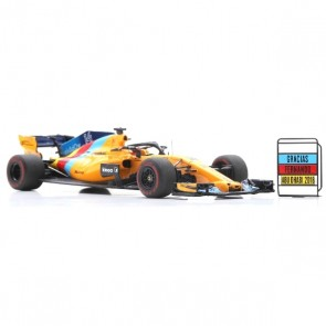 1:43 McLaren F1 Team No.14 Abu Dhabi GP 2018 - McLaren MCL33 Fernando Alonso (Last Race - Special package with tyre marks)