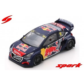 1:43 Peugeot 208 WRX #9 Winner Round 3 World RX of Belgium 2018 Sebastien Loeb