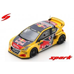1:43 Peugeot 208 WRX #71 Winner Round 4 World RX of Great Britain 2018 Kevin Hansen