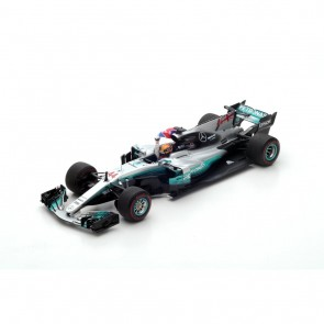 1:18 Mercedes AMG Petronas F1 Team Mercedes F1 W08 EQ Power + L. Hamilton Mexican GP 2017 met Britse vlag