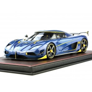 1:18 Koenigsegg Agera RS 'Naraya' Blue Carbon with Gold accents